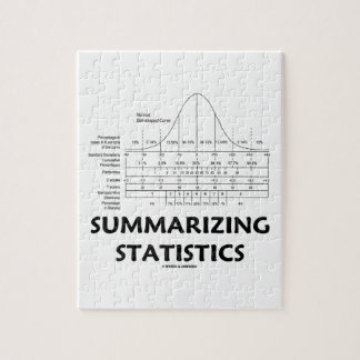Summarizing Statistics (Bell Curve Distribution) Jigsaw Puzzle