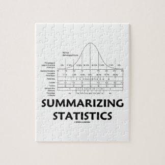 Summarizing Statistics (Bell Curve Distribution) Puzzle