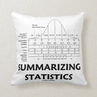 Summarizing Statistics (Bell Curve Distribution) Throw Pillow