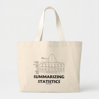 Summarizing Statistics Large Tote Bag