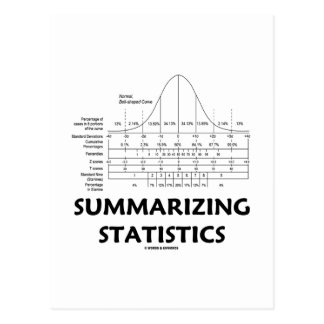 Summarizing Statistics Post Card