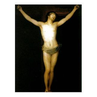 Summary Description Cristo crucificado. Museo del  Postcard