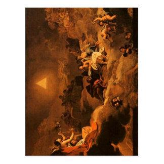 Summary Description El nombre de Dios adorado por  Postcard