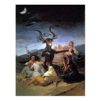 Summary Description Francisco Goya, le Sabbat des  Postcard