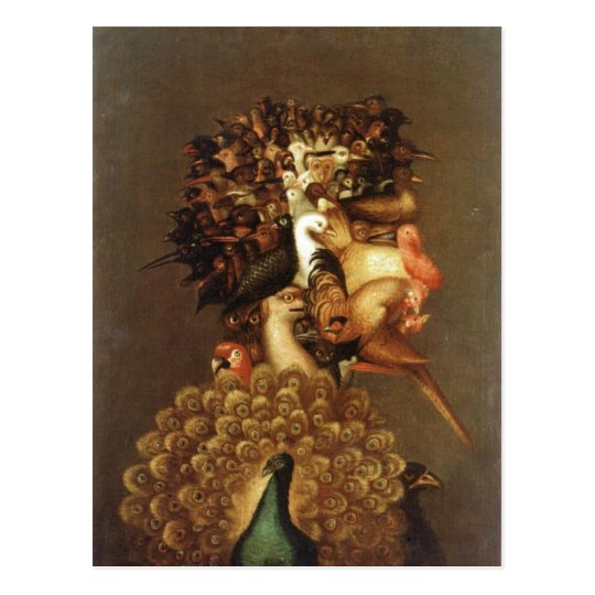 Summary Description Giuseppe Arcimboldo The Air .  Postcard