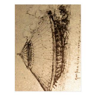 Summary Description Leonardo da Vinci, design for  Postcard