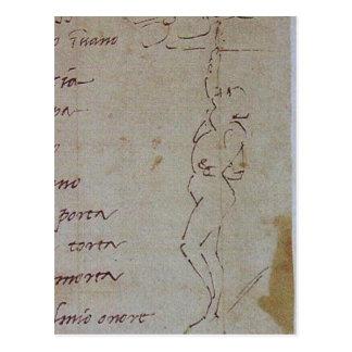 Summary Description Michelangelo, Sketch illustrat Postcard