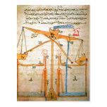 Summary Diagram from book by Al-Jazari , 7th centu Postcard
