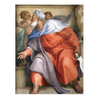Summary en:Ezekiel depicted on a Sistine Chapel fr Post Card