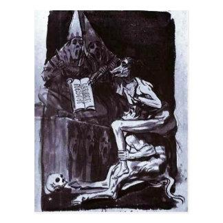 Summary Francisco de Goya y Lucientes: Brujas a bo Postcard