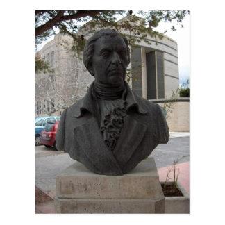 Summary Francisco Javier Balmis, busto situado en  Postcard