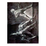 Summary Henry Fuseli - Hamlet and his father's Gho Postcard
