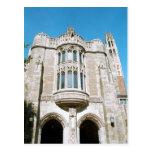 Summary Law school building at w:Yale University . Postcard