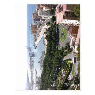 Summary M?laga Spain - harbour Julo center hereby  Postcard