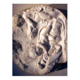Summary Michelangelo, Tondo Taddei. center hereby  Postcard