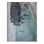Summary Monet, Claude ?tretat, la porte d'Aval: ba Postcard