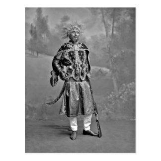 Summary Ras Makonnen ca. August 1902. Source: V Postcard