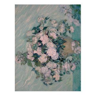 Summary Title: White Roses Year: 1890 Artist: Vinc Postcard