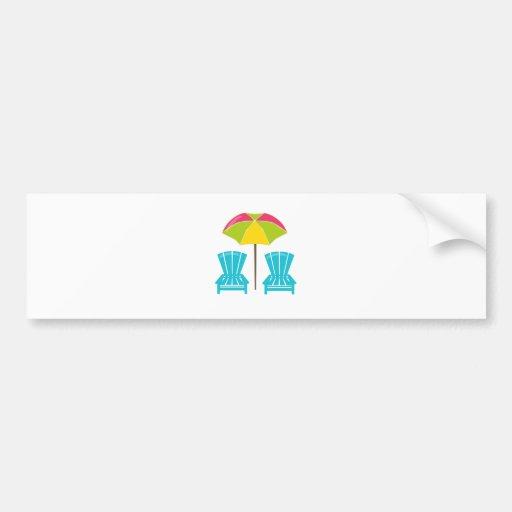 Summe rFun-Umbrella&Chairs. Bumper Stickers