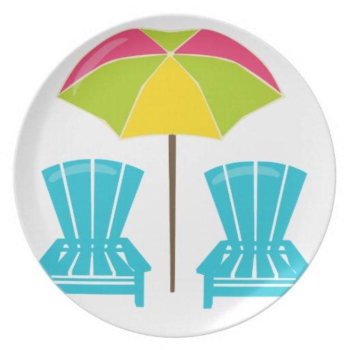 Summe rFun-Umbrella&Chairs. Plato Para Fiesta