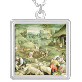 Summer, 1570-80 square pendant necklace