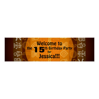 Summer 15th Birthday Party Banner Poster