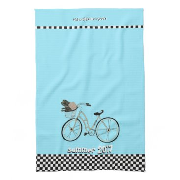 Beach Themed Summer 2017 Bike to The Beach (With your Dog) Towel