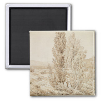 Summer 2 Inch Square Magnet