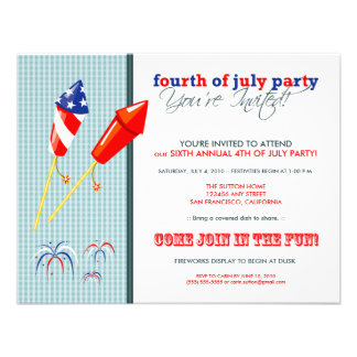 Summer 4th of July Party Cookout Invitation 2
