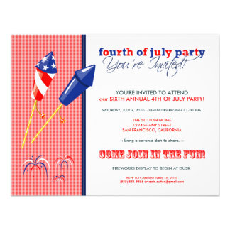 Summer 4th of July Party Cookout Invitation 2a
