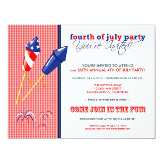 Summer 4th of July Party/Cookout Invitation :: 2a