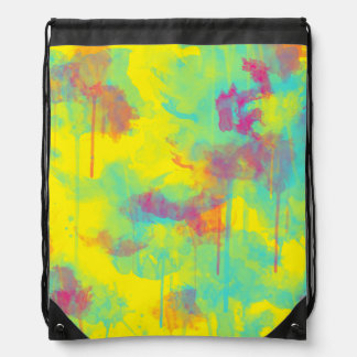 Summer abstract watercolor splatters Backpack