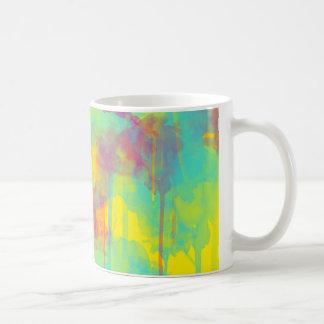 Summer abstract watercolor splatters Coffee mug