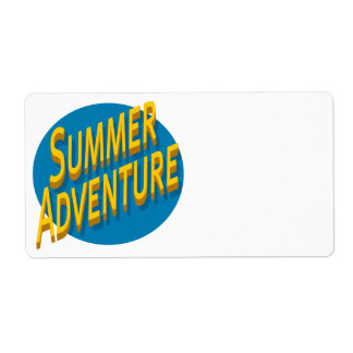 Summer Adventure Label