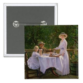 Summer Afternoon Tea Pinback Button