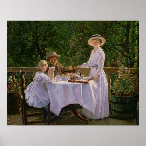 Summer Afternoon Tea Poster