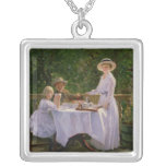 Summer Afternoon Tea Square Pendant Necklace