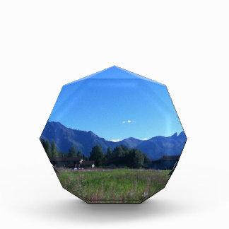 Summer Alaskan Mountain Range Acrylic Award