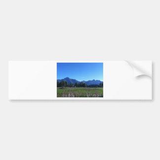 Summer Alaskan Mountain Range Bumper Sticker