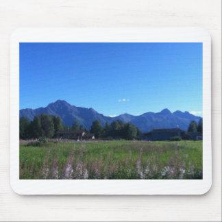 Summer Alaskan Mountain Range Mouse Pad