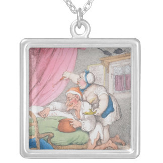 Summer Amusement. Bug Hunting Silver Plated Necklace