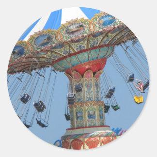 Summer amusement round stickers
