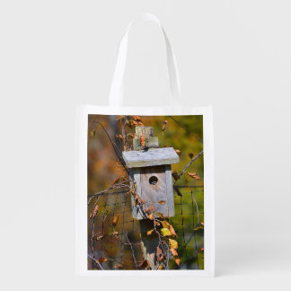 Summer and Fall Birdhouse Shopping Bag
