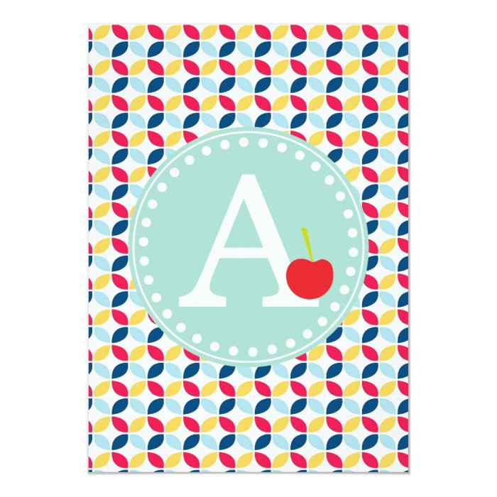 Summer and primary colors Modern Cherry invitation