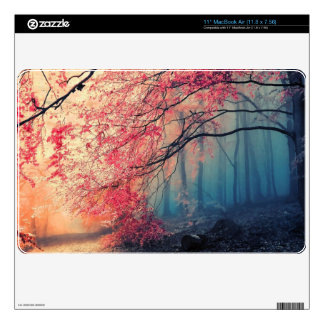 """Summer and winter in the forest 11"""" MacBook air skins"""