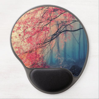 Summer and winter in the forest gel mouse pad