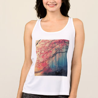 Summer and winter in the forest tank top