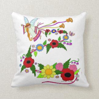 Summer Angel Ukrainian Folk Art Throw Pillow
