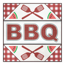 Summer Annual BBQ Barbecue Party Cookout Invite