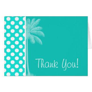 Summer Aqua Color Polka Dots Card